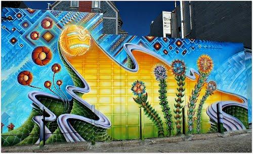 Paneles solares con arte
