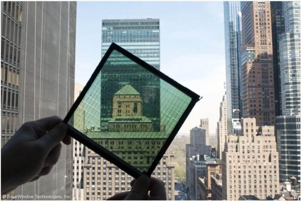 Panel solar transparente
